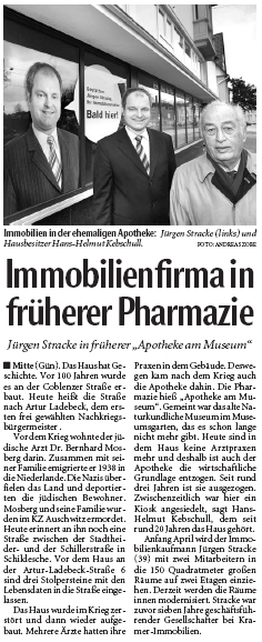 Immobilienfirma in früherer Pharmazie